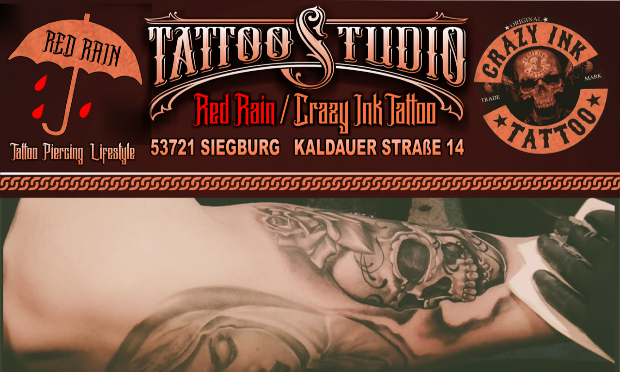 Red Rain Crazy Ink Tattoo Tattoostudio Ingo Frost